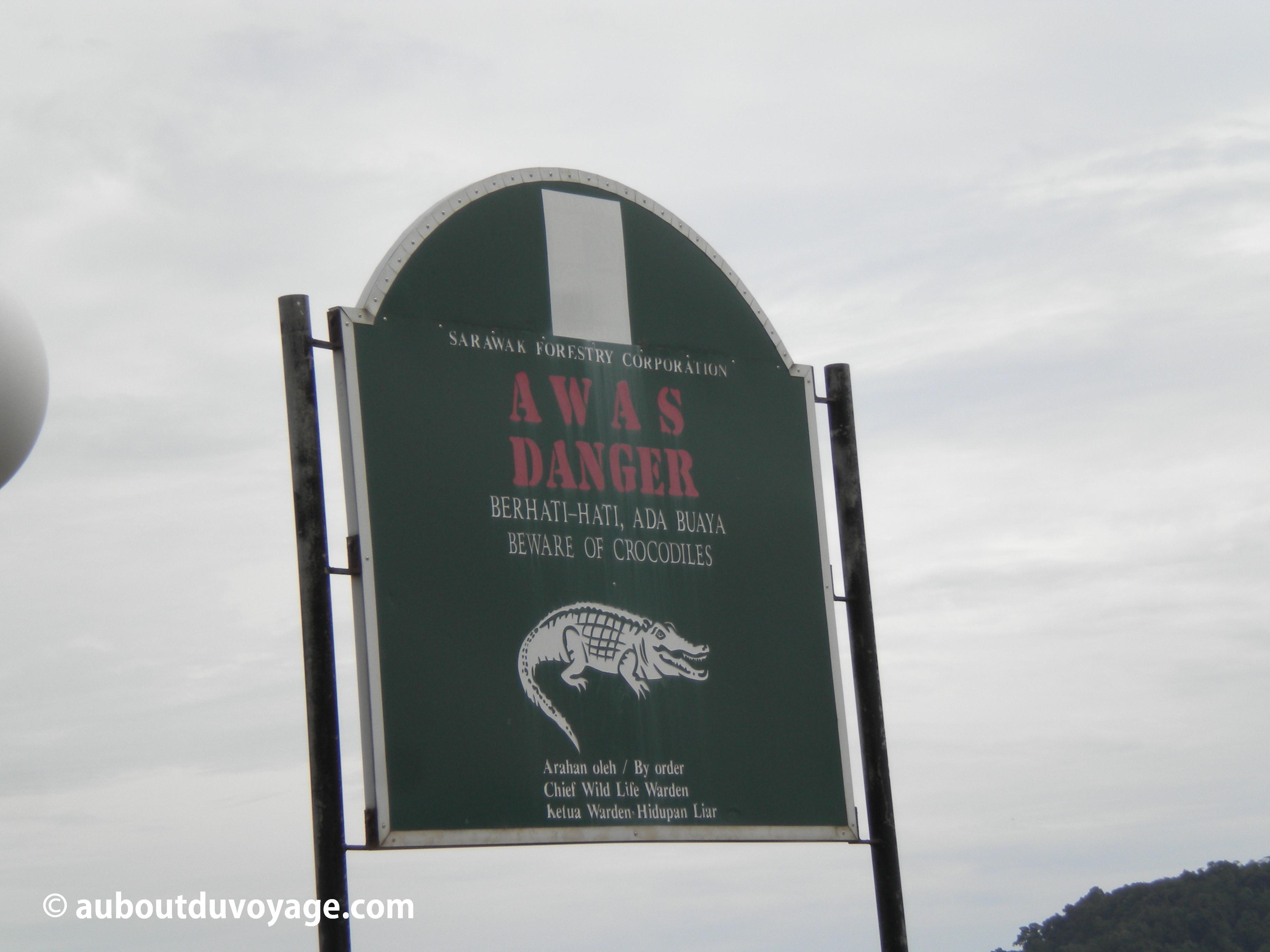 Parc national Bako Bornéo avertissement