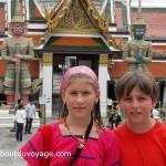 Thailande Bangkok temple jumeaux