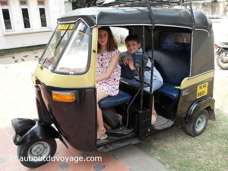 Inde du sud Rickshaw jumeaux