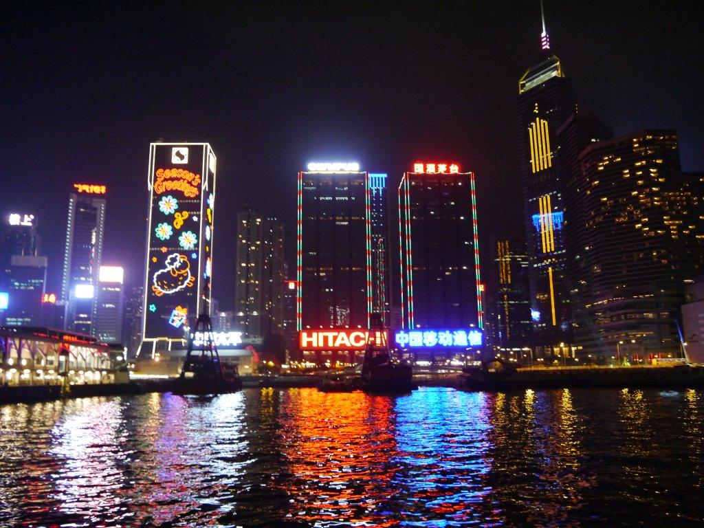 La magie de Hong Kong la nuit