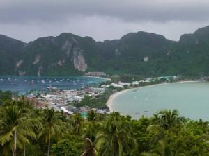 Vue du haut de l'île
