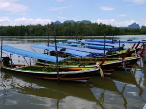 Prés de Phuket départ pour James Bond island