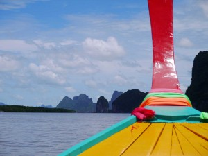 En route dans cette baie qui rappelle un peu la baie d'along au Vietnam